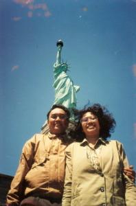 1 bersama istri di New York